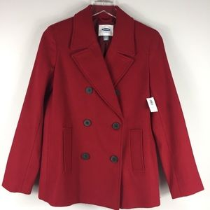 Old Navy NWT Red Pea Coat. Small.